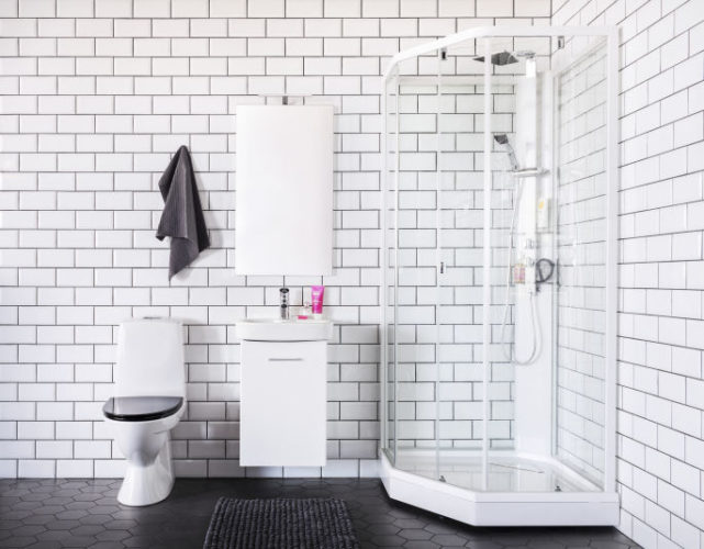 Nykyaikainen kylpyhuone on tyylikäs ja helposti siivottava